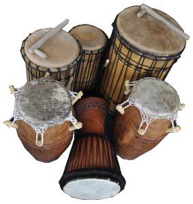 A selection of drums used in our workshops